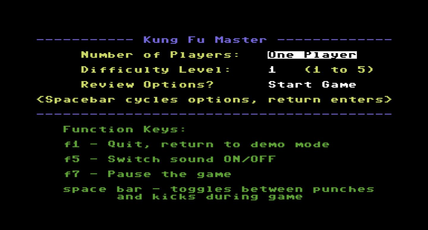 JupiterFabrik: Kung Fu Master (Commodore 64 Emulated) 88,065 points on 2015-10-10 02:30:29