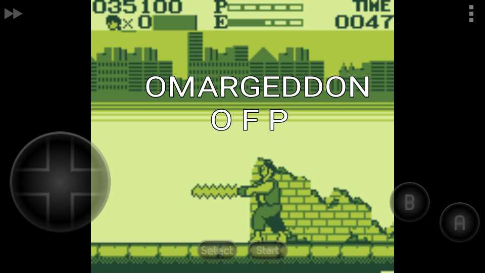 omargeddon: Kung Fu Master (Game Boy Emulated) 35,100 points on 2016-11-25 15:23:32