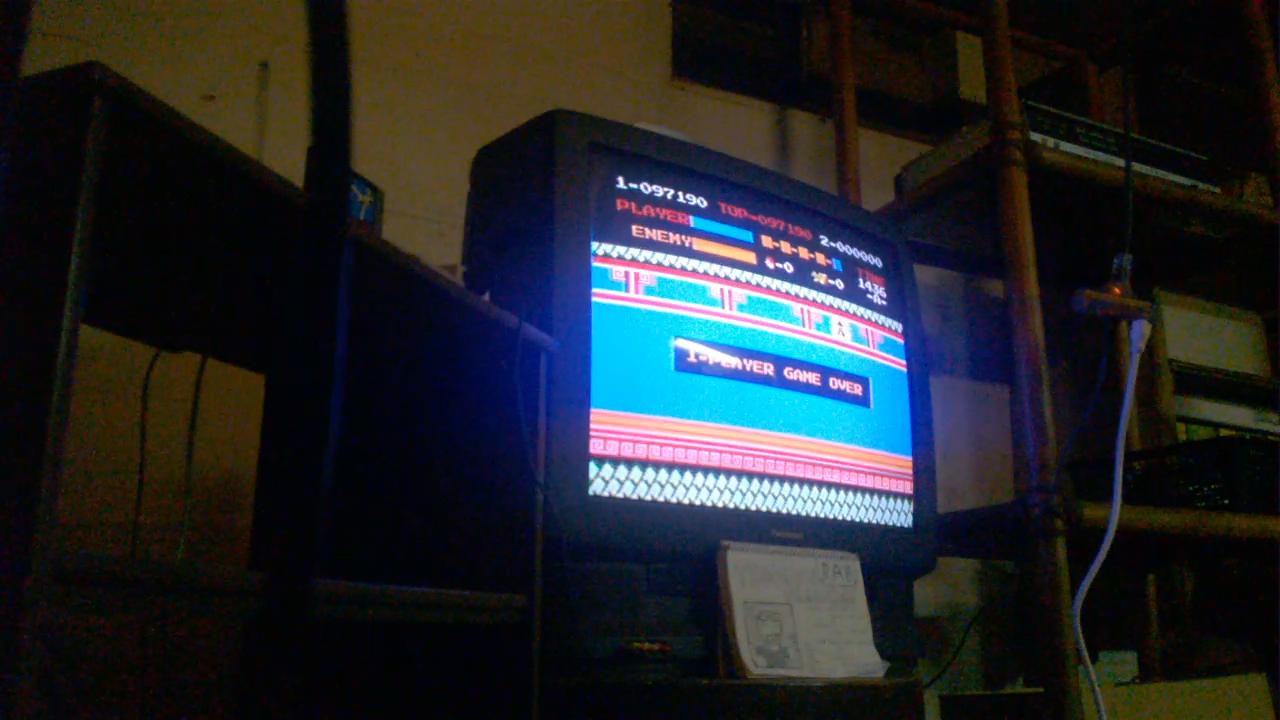 vigorousjammer: Kung Fu (NES/Famicom) 97,190 points on 2015-08-27 11:00:41
