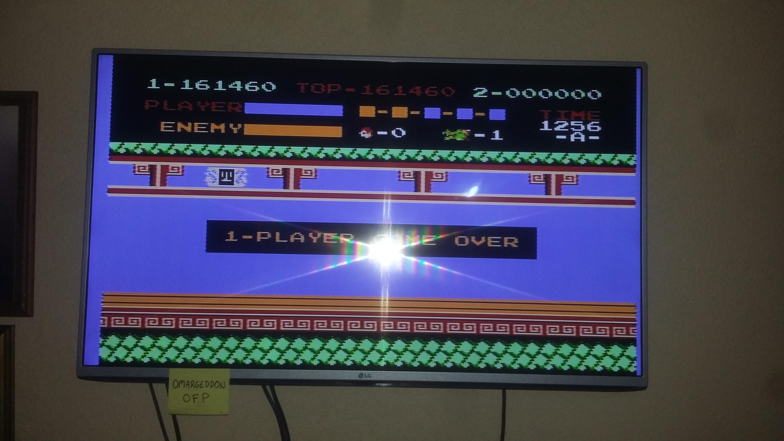 omargeddon: Kung Fu (NES/Famicom) 161,460 points on 2016-12-18 12:11:36