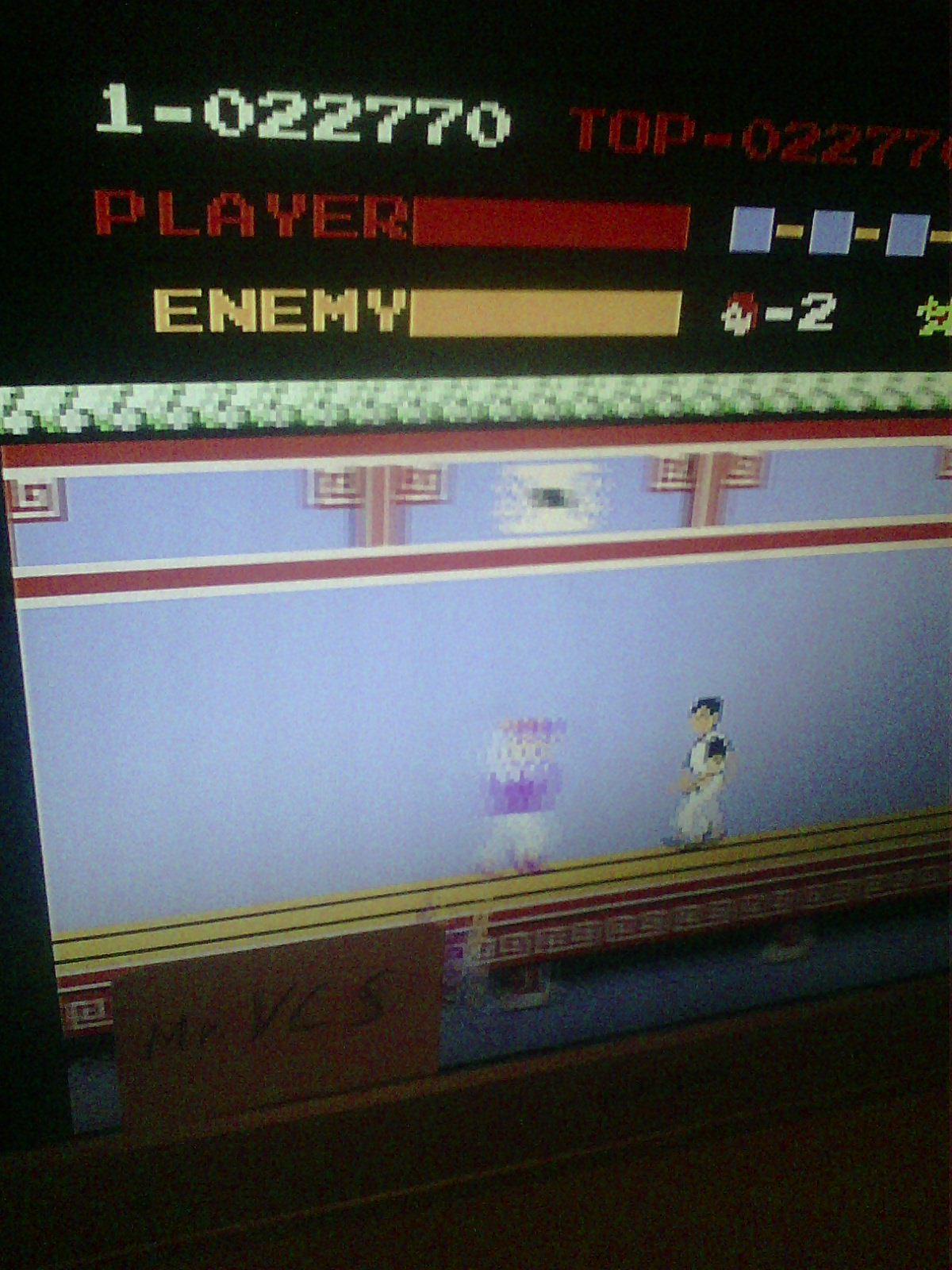 MisterVCS: Kung Fu (NES/Famicom Emulated) 22,770 points on 2018-12-22 10:36:02