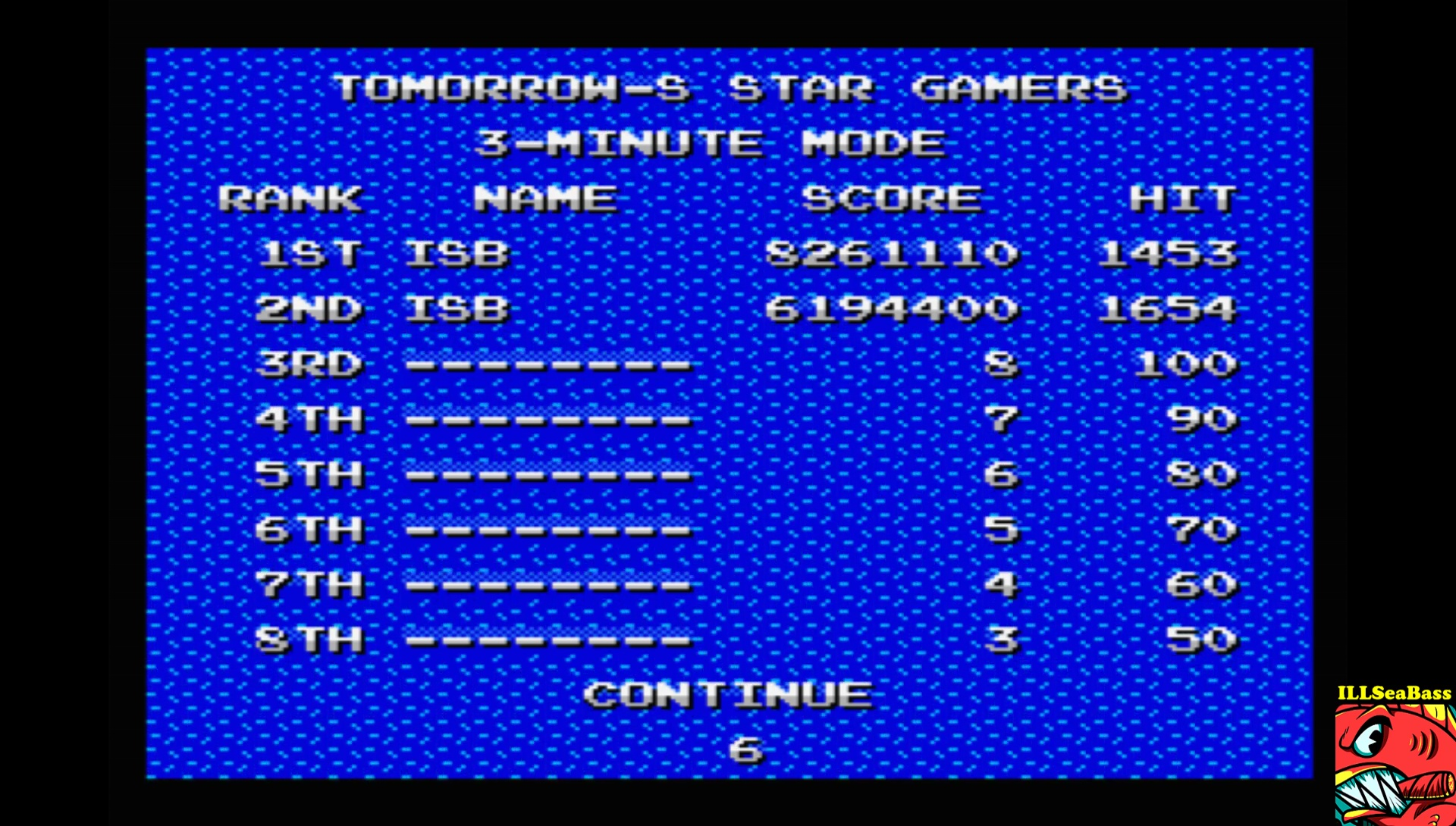 ILLSeaBass: Kyokugen [Time Attack 3] (MSX Emulated) 8,261,110 points on 2017-08-26 14:22:18