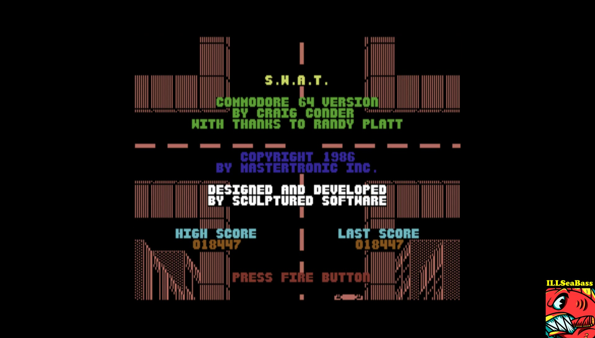 ILLSeaBass: L.A. Swat (Commodore 64 Emulated) 18,447 points on 2017-02-20 11:35:59
