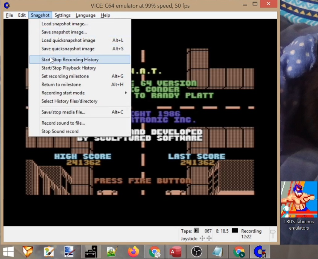 LuigiRuffolo: L.A. Swat (Commodore 64 Emulated) 241,362 points on 2020-06-16 01:45:27