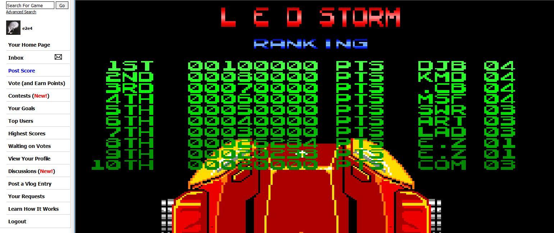 LED Storm - Lazer Enhanced Destruction 26,284 points