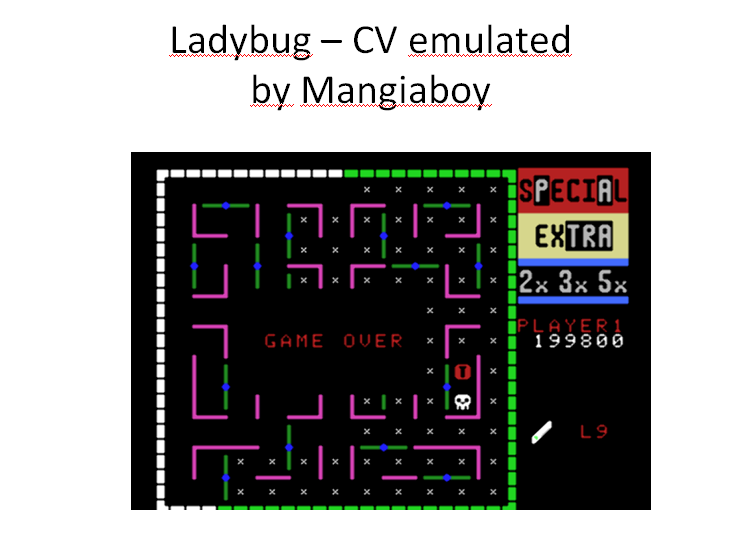 MangiaBoy: Lady Bug (Colecovision Emulated) 199,800 points on 2015-12-27 09:19:40