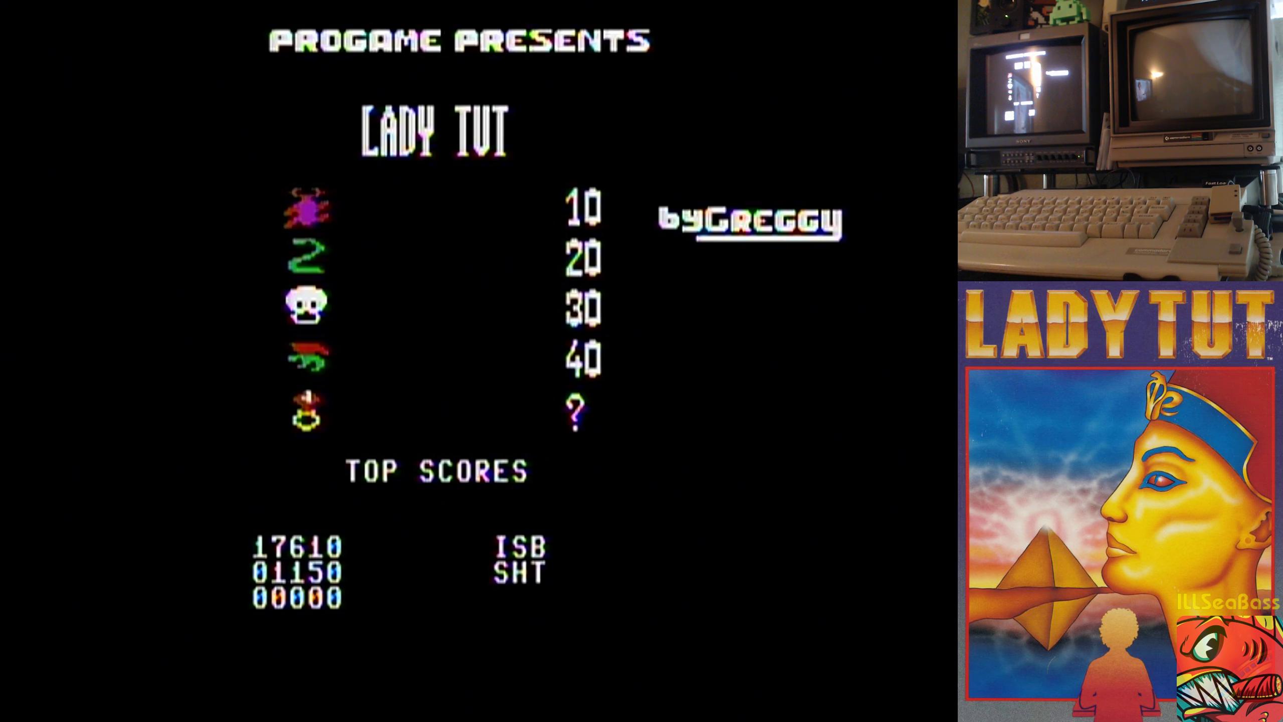 ILLSeaBass: Lady Tut (Commodore 64) 17,610 points on 2019-02-28 22:34:03