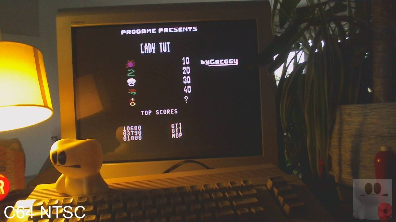 GTibel: Lady Tut (Commodore 64) 10,680 points on 2020-03-10 10:11:05
