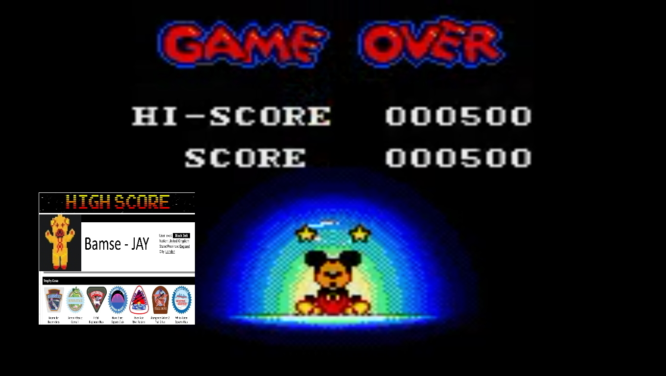 Bamse: Land of Illusion Starring Mickey Mouse (Sega Game Gear Emulated) 500 points on 2019-11-05 17:22:25