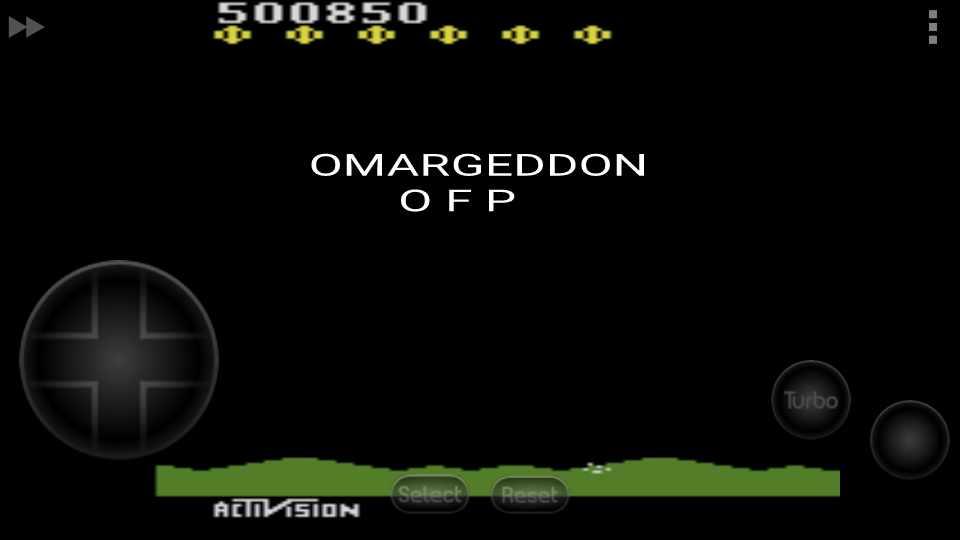 omargeddon: Laser Blast (Atari 2600 Emulated Novice/B Mode) 500,850 points on 2016-09-19 23:51:24