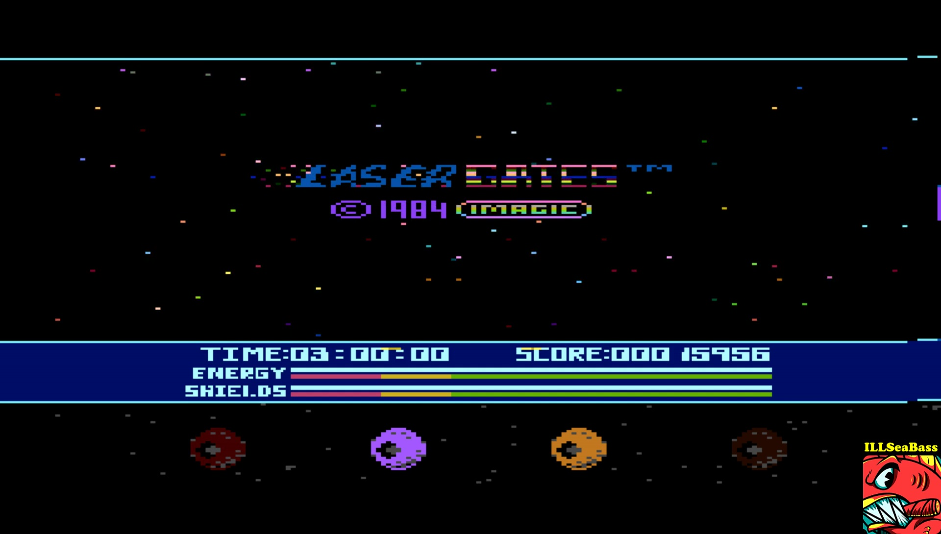 ILLSeaBass: Laser Gates (Atari 400/800/XL/XE Emulated) 15,956 points on 2017-03-22 21:24:07