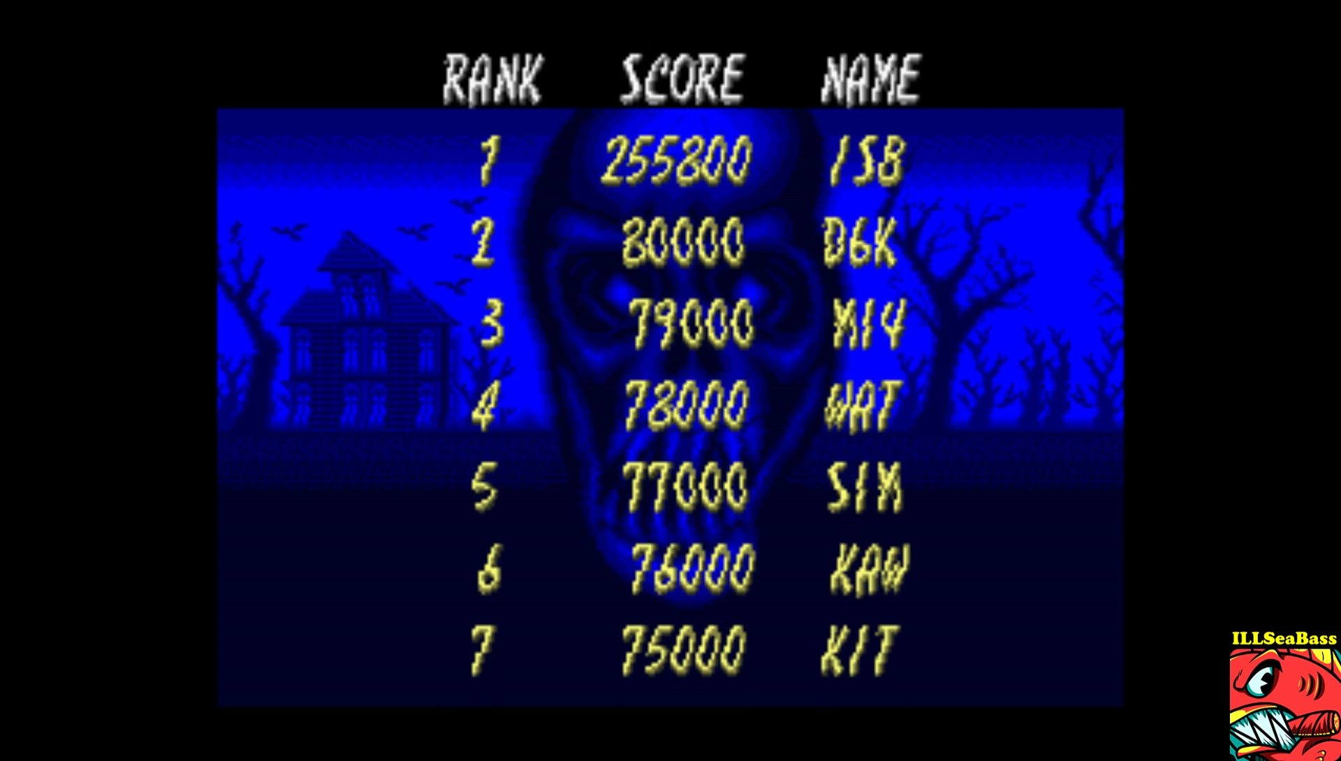 ILLSeaBass: Laser Ghost [lghost] (Arcade Emulated / M.A.M.E.) 255,800 points on 2017-08-03 19:56:33