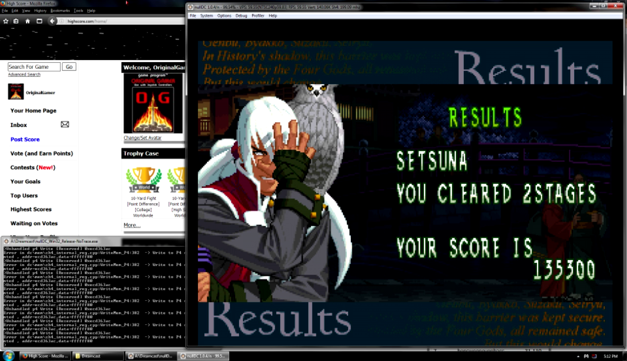 OriginalGamer: Last Blade 2 (Dreamcast Emulated) 135,300 points on 2016-07-25 19:01:30