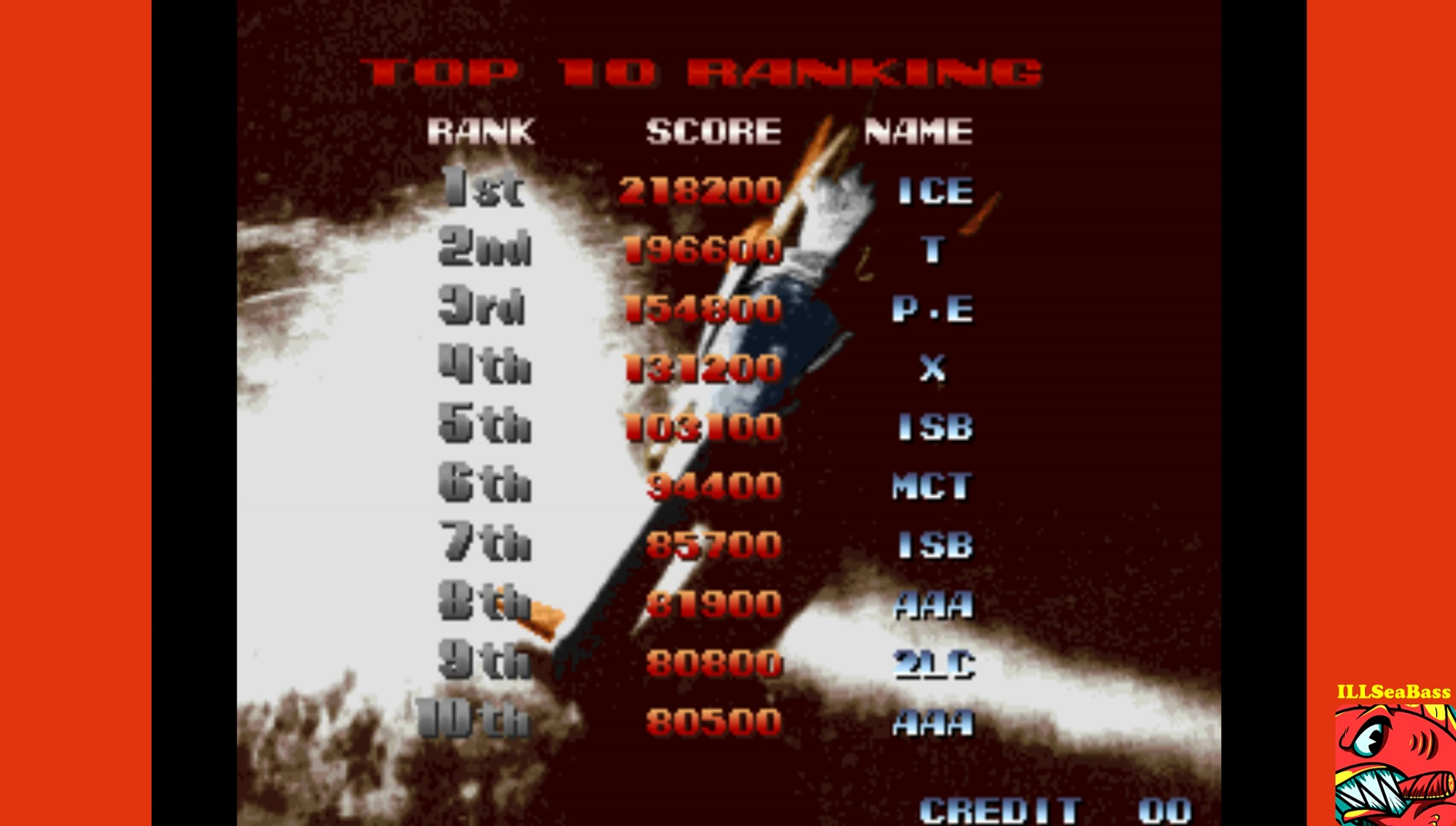 ILLSeaBass: Last Resort (Arcade Emulated / M.A.M.E.) 103,100 points on 2017-03-01 23:01:26