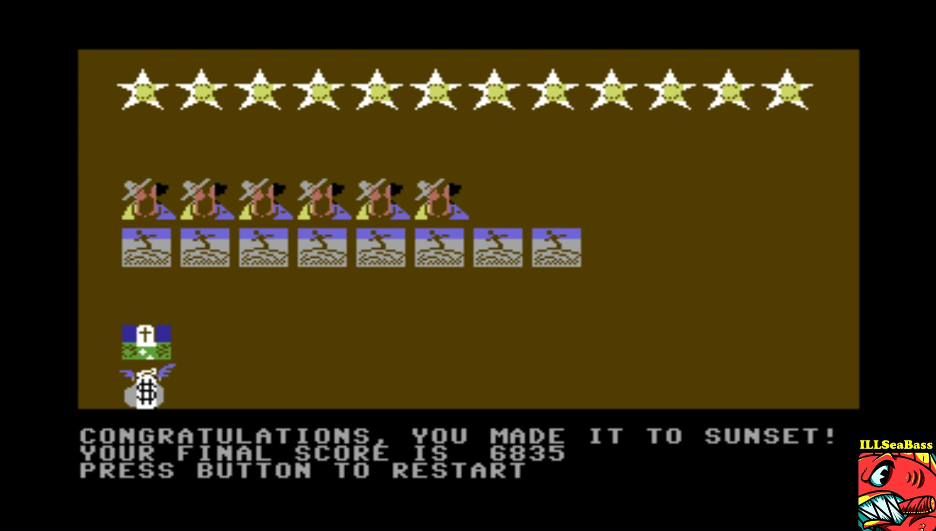 ILLSeaBass: Law of the West (Commodore 64 Emulated) 6,835 points on 2017-02-20 12:43:08