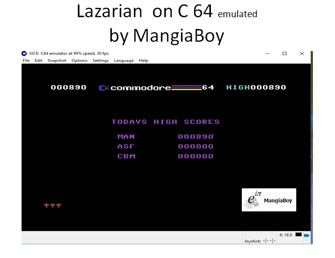 MangiaBoy: Lazarian (Commodore 64 Emulated) 890 points on 2017-03-19 18:01:36