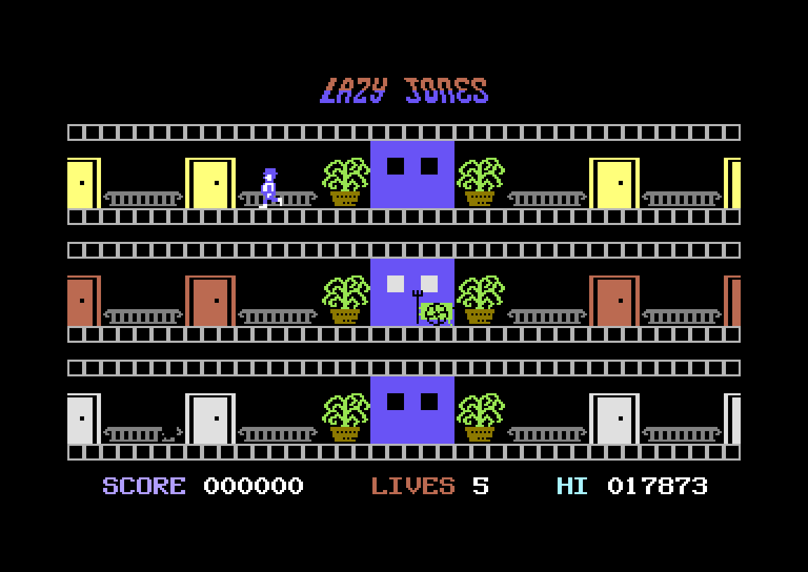 Hyeron: Lazy Jones (Commodore 64 Emulated) 17,873 points on 2019-07-14 02:17:30
