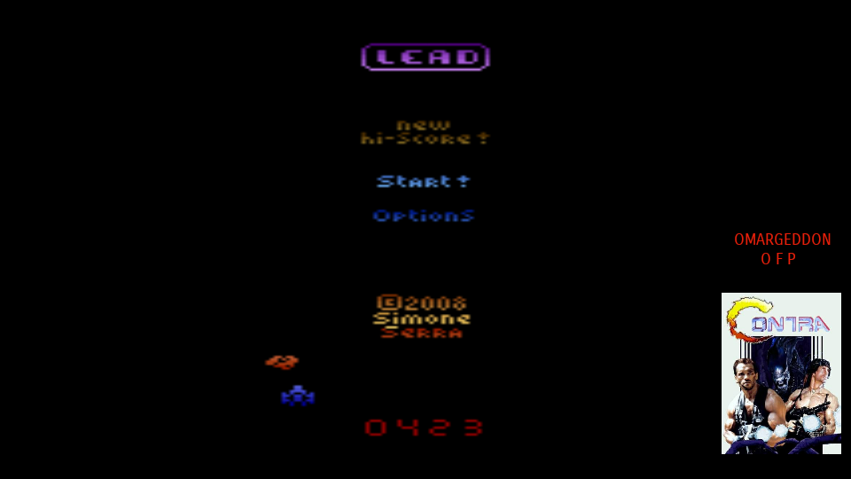 omargeddon: Lead (Atari 2600 Emulated Expert/A Mode) 423 points on 2017-10-08 16:10:37