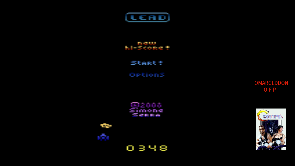 omargeddon: Lead (Atari 2600 Emulated Novice/B Mode) 348 points on 2017-10-08 16:09:57