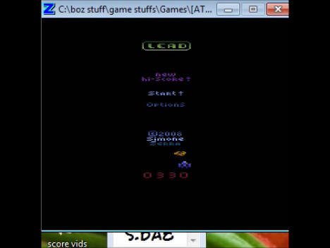 BAZ: Lead (Atari 2600 Emulated Novice/B Mode) 330 points on 2020-01-21 17:06:37