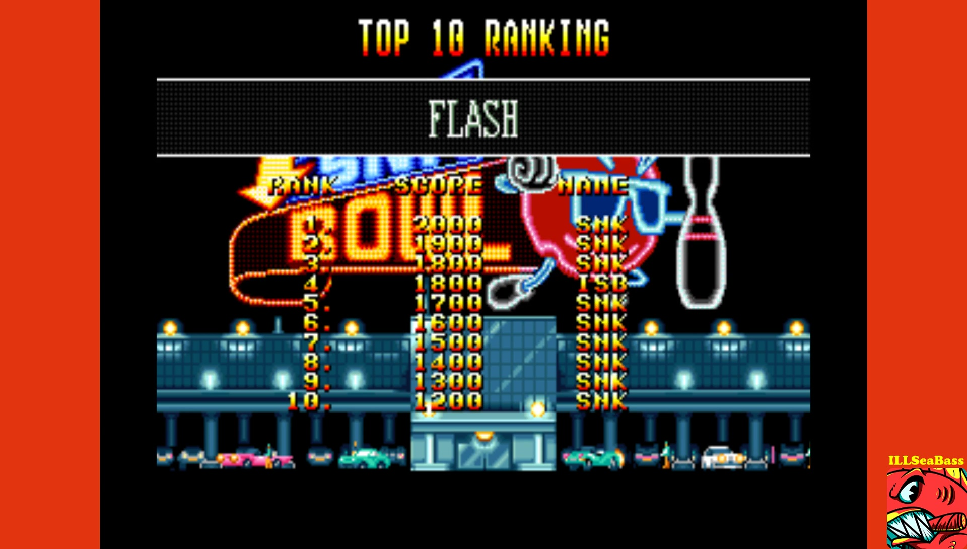 ILLSeaBass: League Bowling: Flash (Neo Geo Emulated) 1,800 points on 2017-09-02 13:08:50