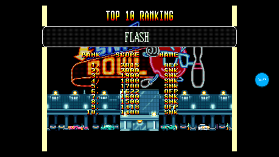 omargeddon: League Bowling: Flash (Neo Geo Emulated) 2,015 points on 2018-06-26 01:39:02