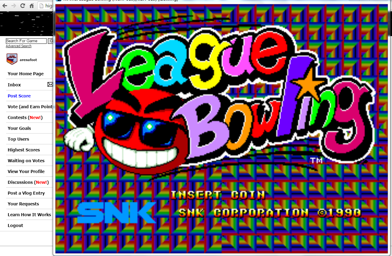 arenafoot: League Bowling: Regulation (Neo Geo Emulated) 174 points on 2016-03-22 06:48:28