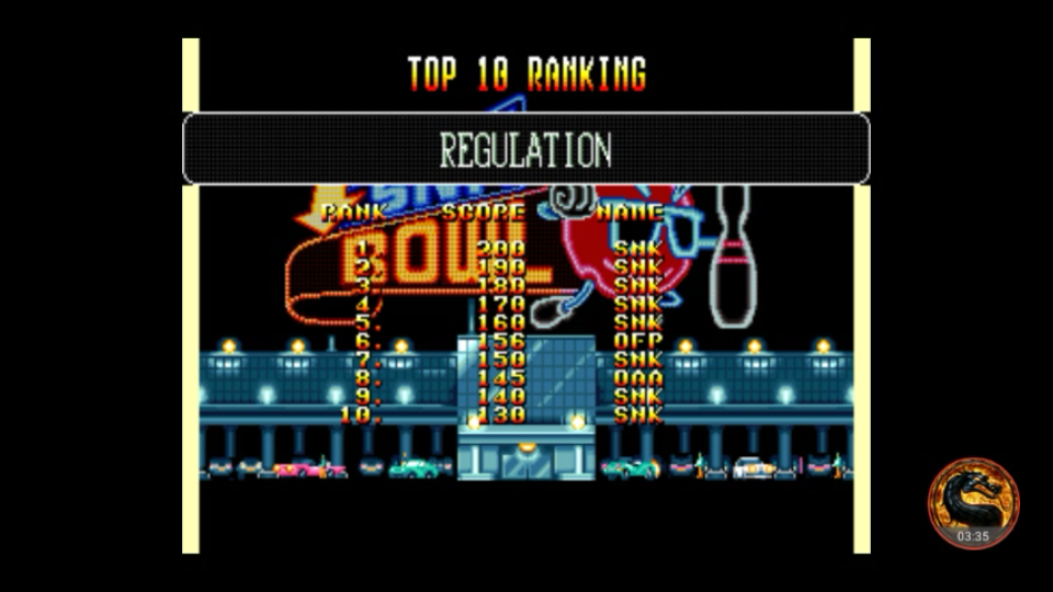 omargeddon: League Bowling: Regulation (Neo Geo Emulated) 156 points on 2018-07-25 00:54:34