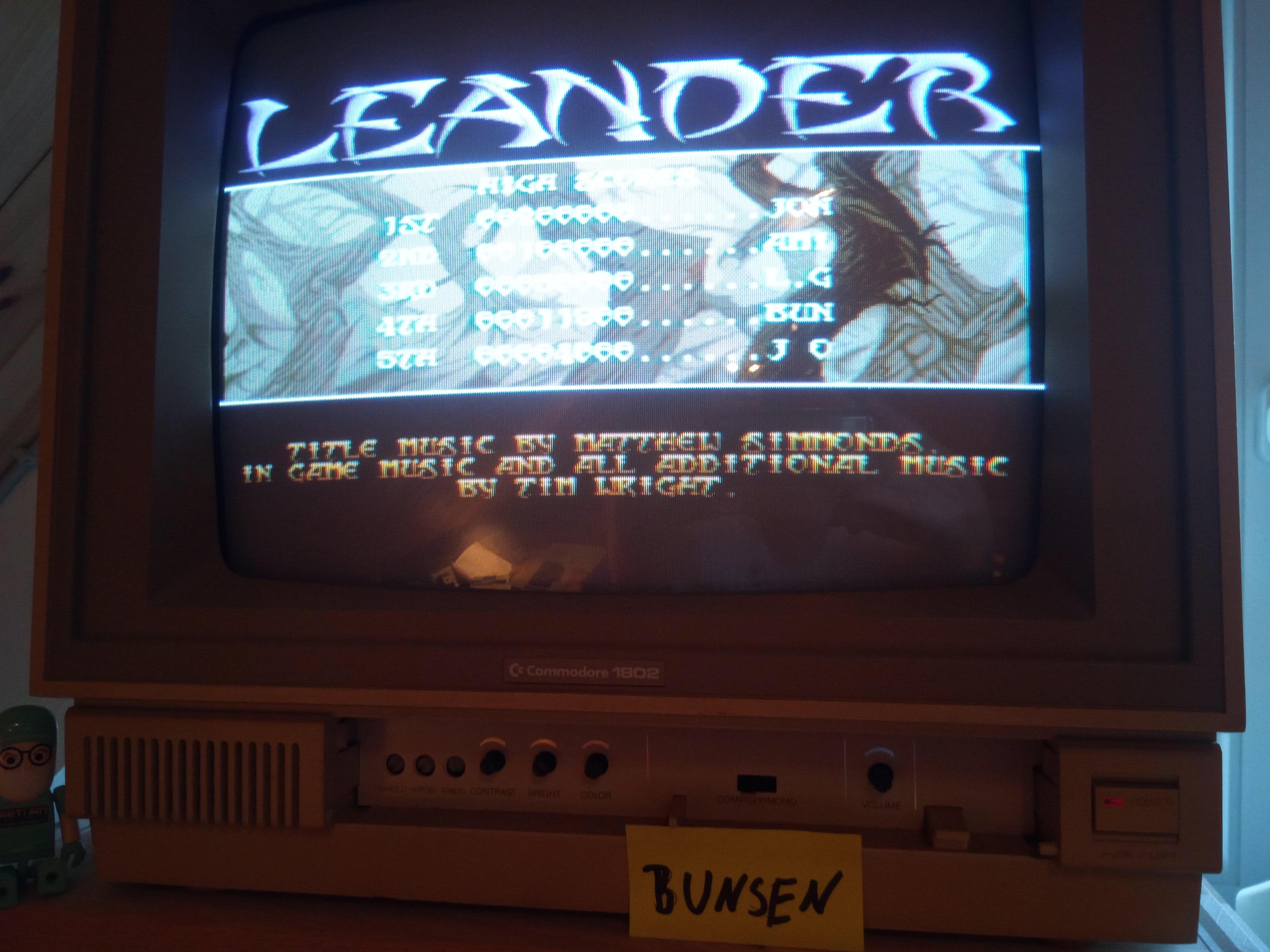 Bunsen: Leander [Normal: 5 Lives] (Amiga) 11,800 points on 2019-07-22 14:07:06