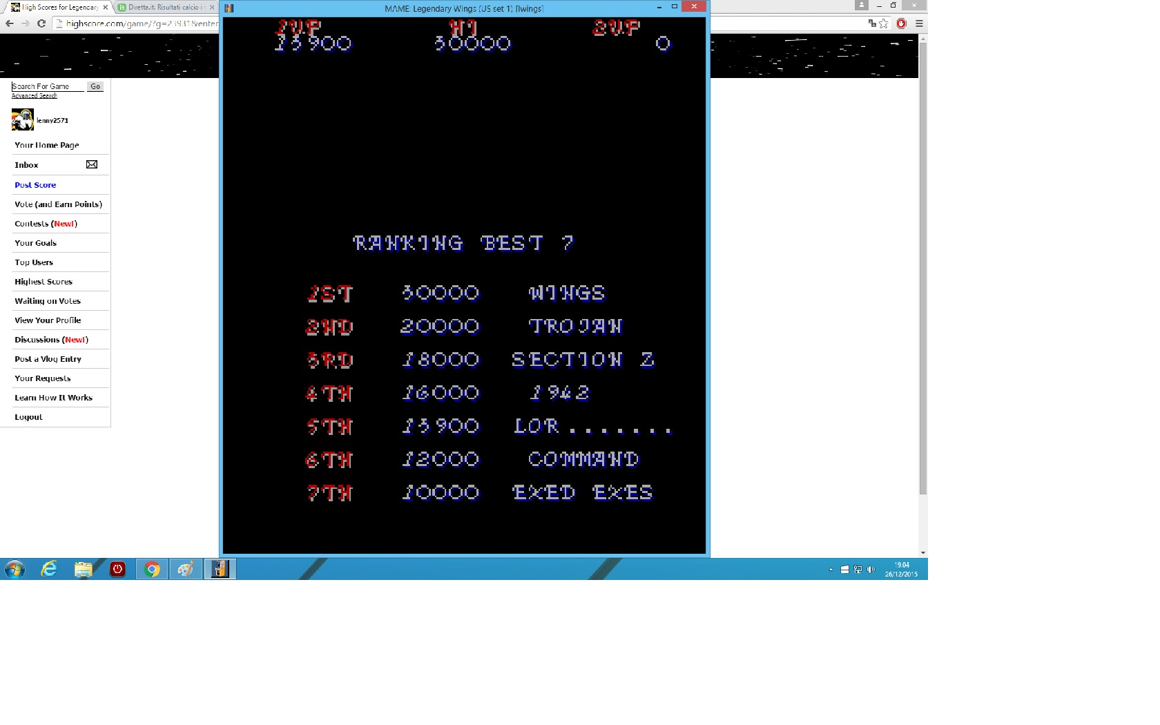 lenny2571: Legendary Wings [US Set 1] [lwings] (Arcade Emulated / M.A.M.E.) 13,900 points on 2015-12-26 12:05:56