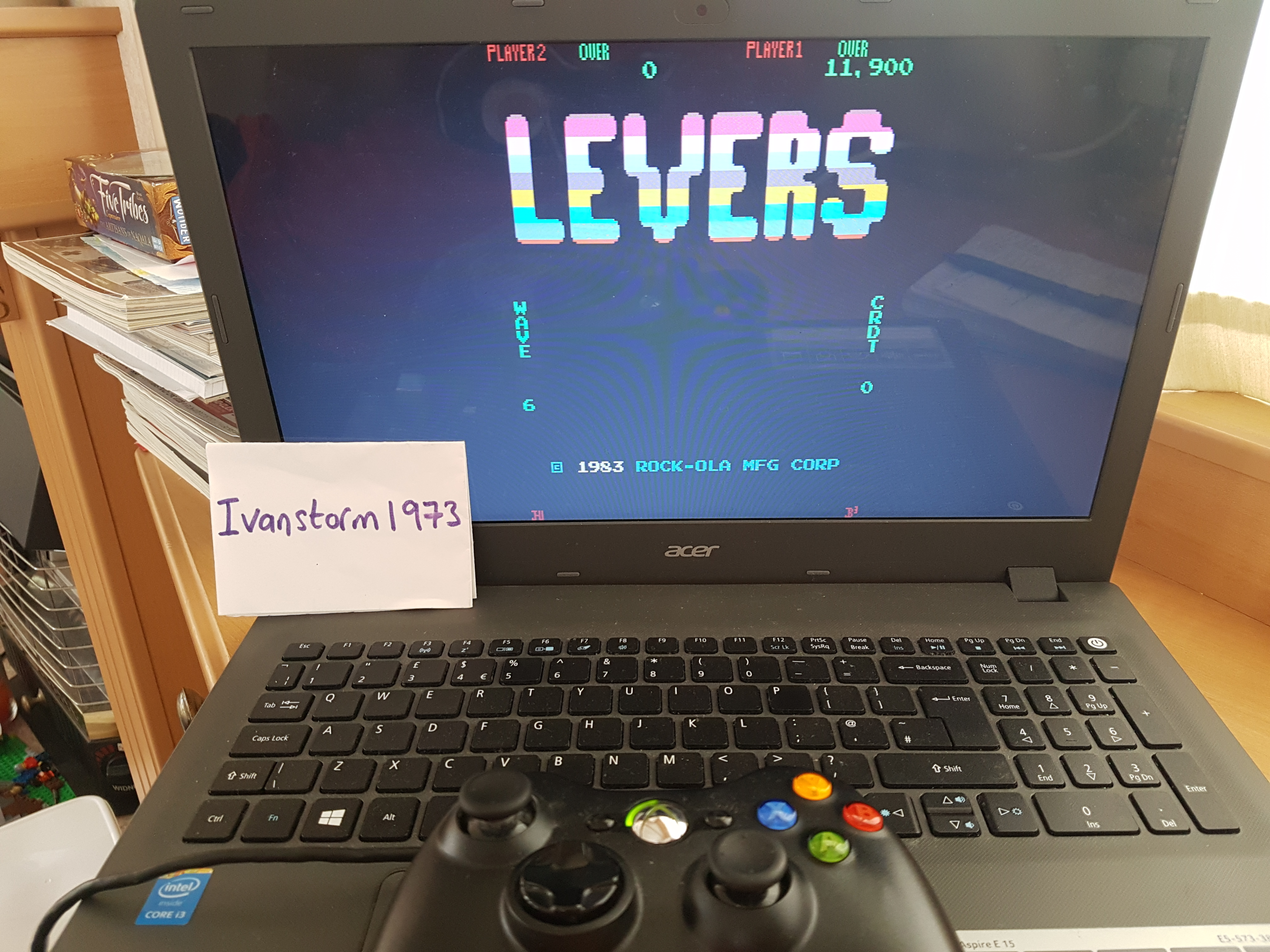 Ivanstorm1973: Levers [levers] (Arcade Emulated / M.A.M.E.) 11,900 points on 2017-08-06 11:49:00