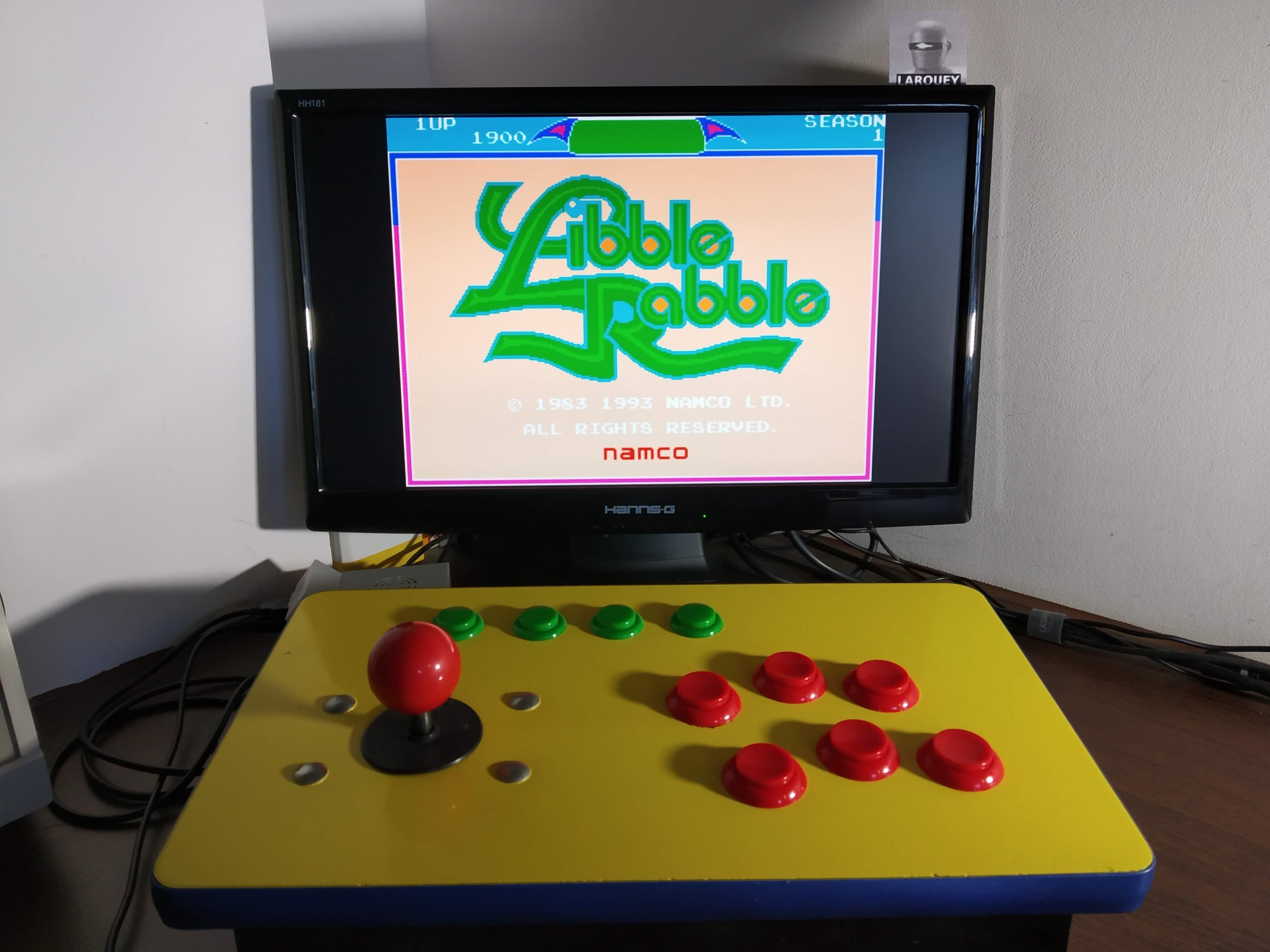 Larquey: Libble Rabble (Sharp X68000 Emulated) 1,900 points on 2019-12-30 07:59:21