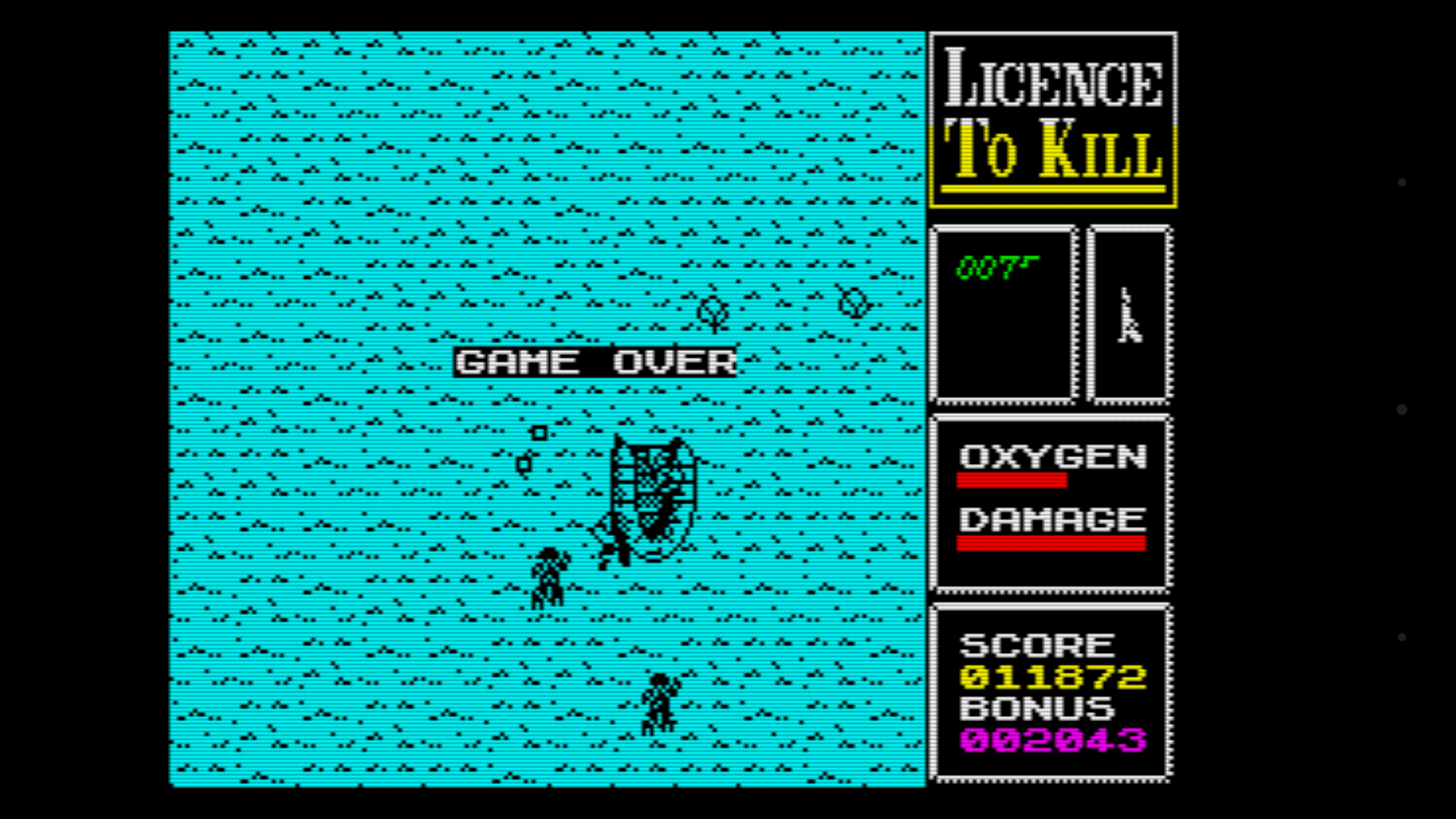 mechafatnick: Licence To Kill (ZX Spectrum Emulated) 11,872 points on 2016-04-16 04:50:49
