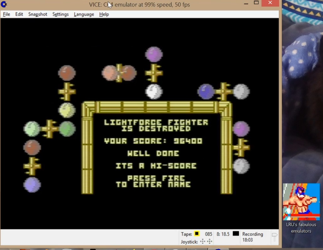 LuigiRuffolo: Lightforce (Commodore 64 Emulated) 96,400 points on 2020-06-06 12:49:07