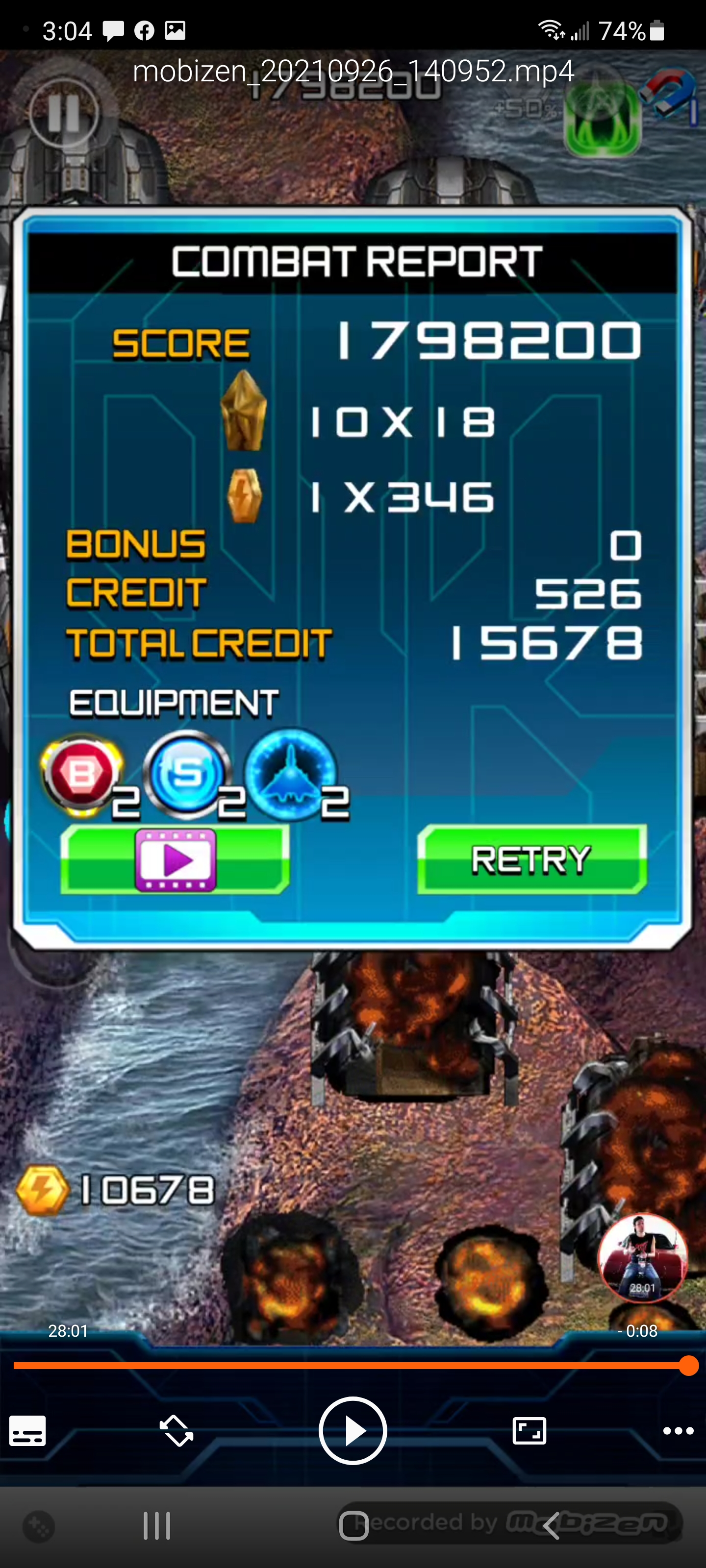 JES: Lightning Fighter 2 (Android) 10,213,400 points on 2021-09-26 16:06:29