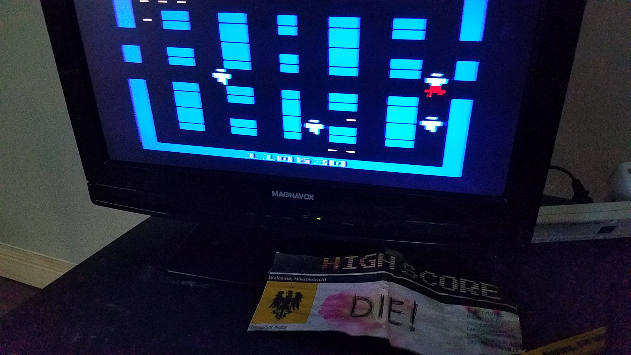 MikeDietrich: Lock N Chase (Atari 2600 Novice/B) 110,630 points on 2018-06-24 09:03:07