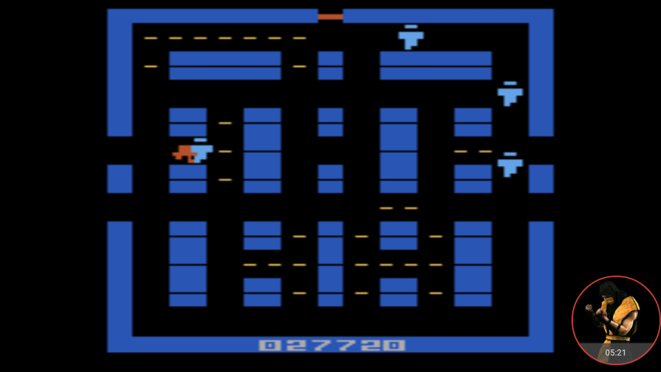 omargeddon: Lock N Chase (Atari 2600 Emulated Novice/B Mode) 27,720 points on 2017-12-07 20:38:10