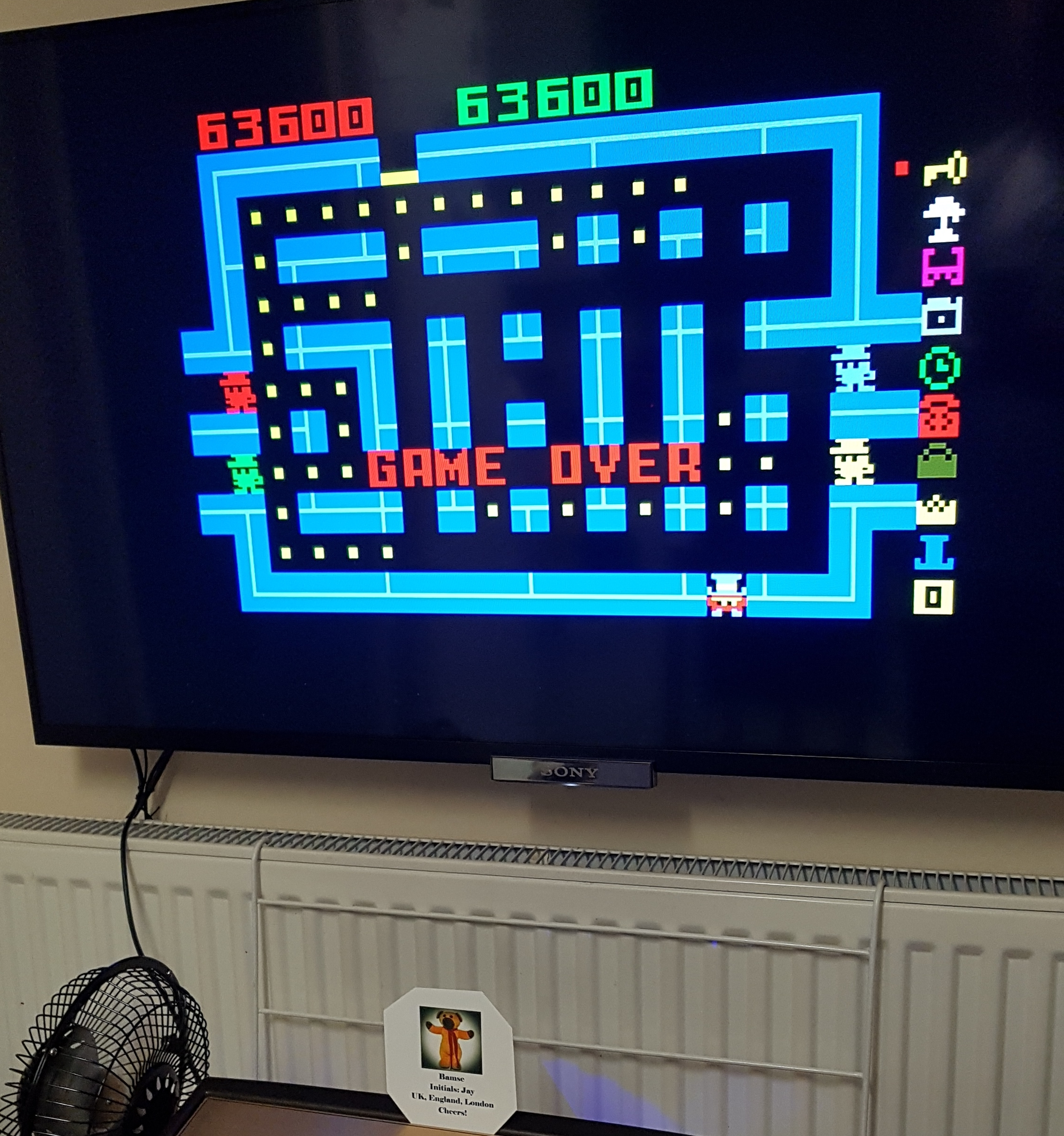 Bamse: Lock N Chase: Skill 1 (Intellivision) 63,600 points on 2018-10-23 18:17:38