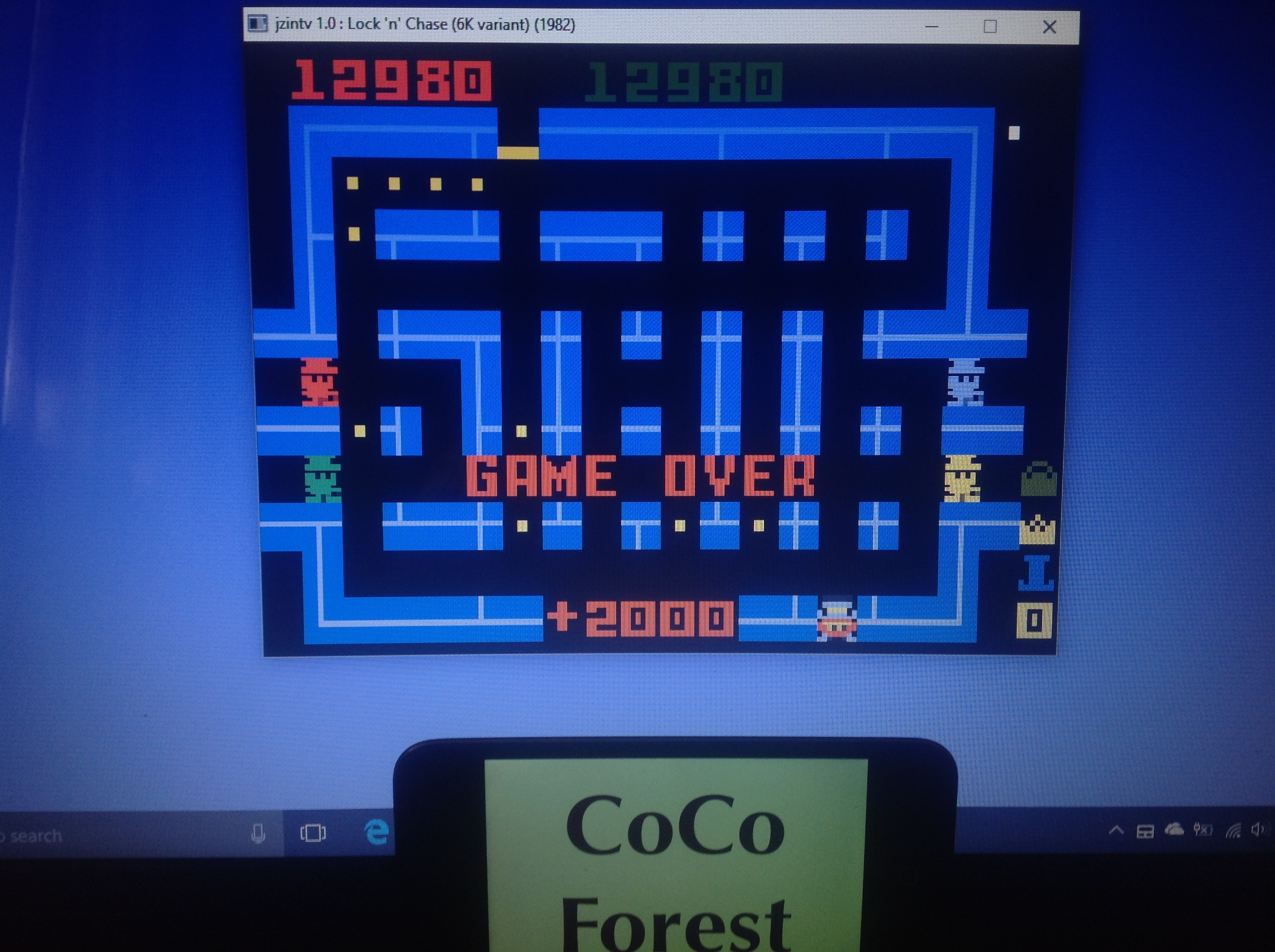 CoCoForest: Lock N Chase: Skill Disc (Intellivision Emulated) 12,980 points on 2018-01-26 07:36:10