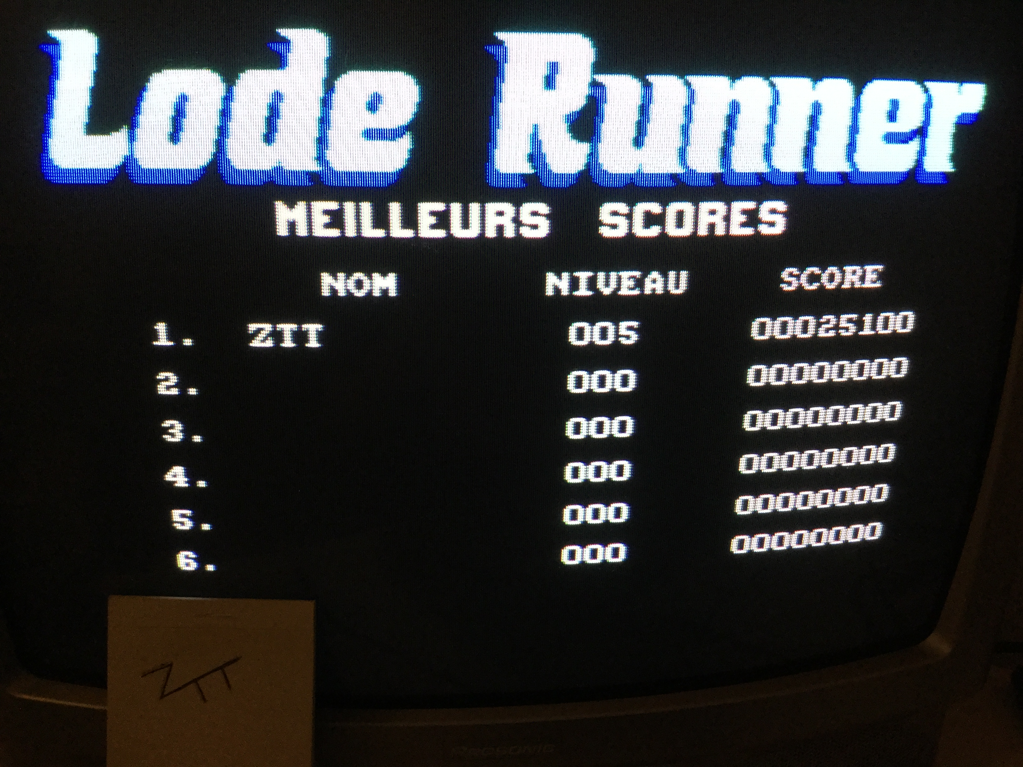 Frankie: Lode Runner (Amstrad CPC) 25,100 points on 2017-02-20 11:39:02
