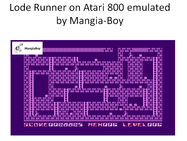 MangiaBoy: Lode Runner (Atari 400/800/XL/XE Emulated) 28,825 points on 2016-03-17 17:19:13
