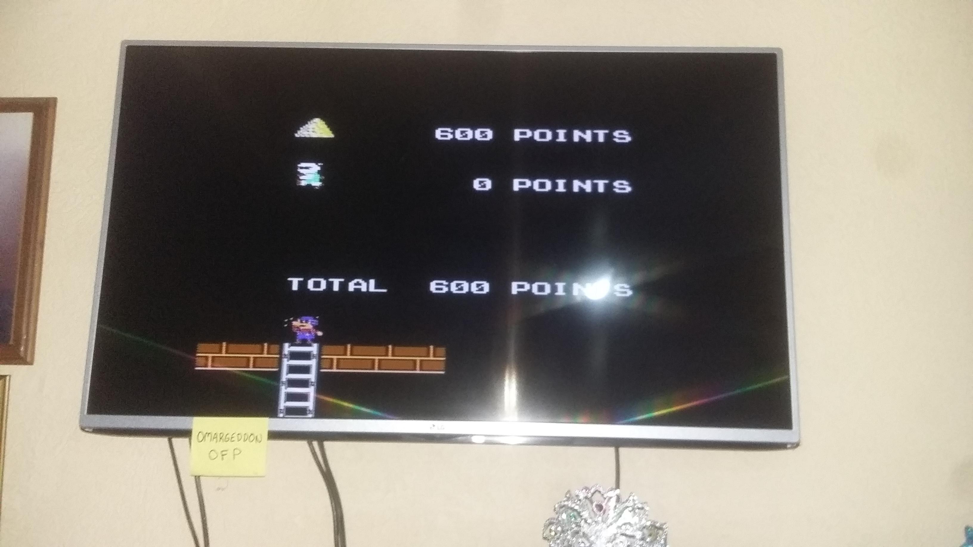 Lode Runner 600 points