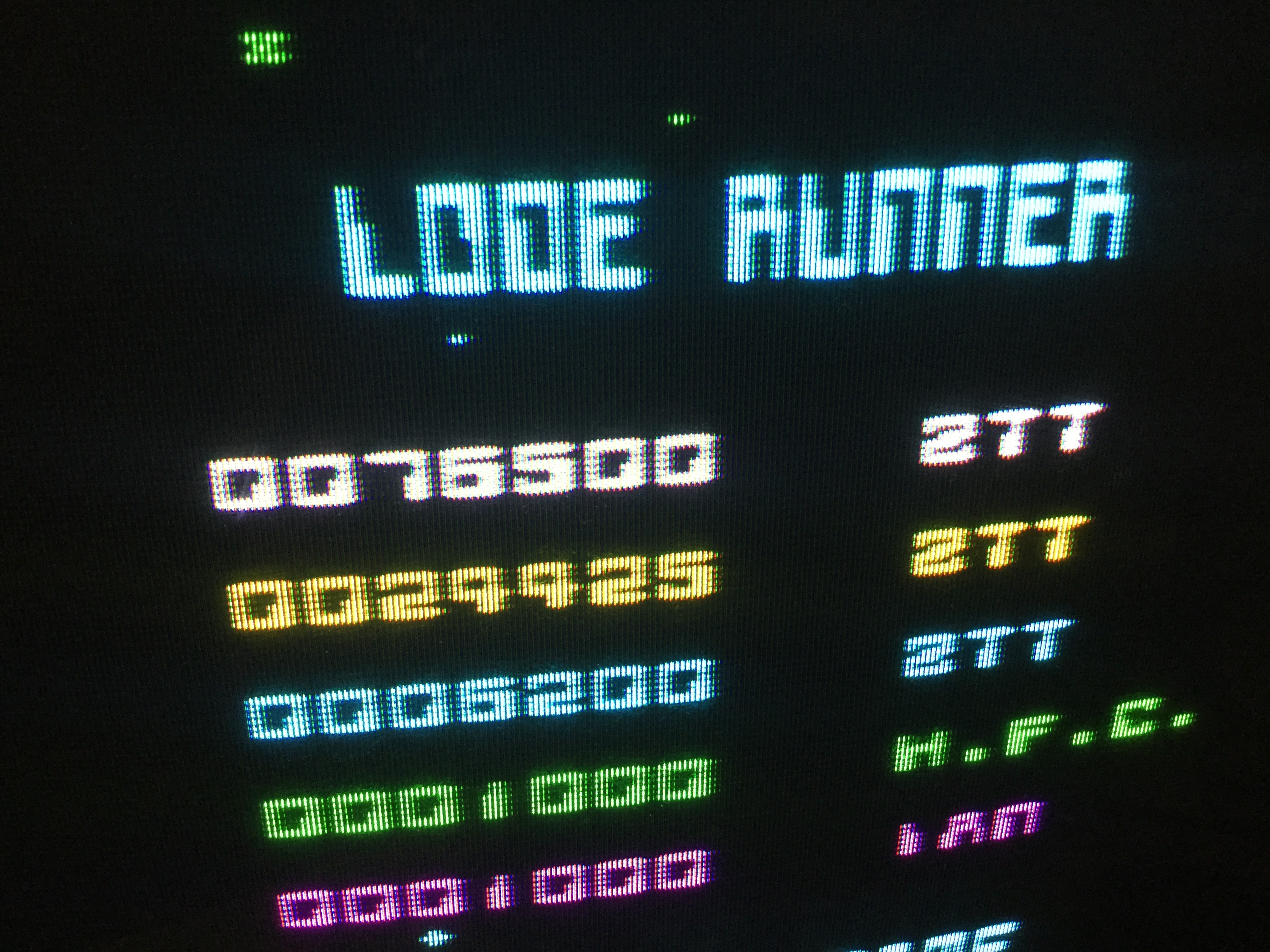 Frankie: Lode Runner (ZX Spectrum) 76,500 points on 2019-02-11 12:43:03