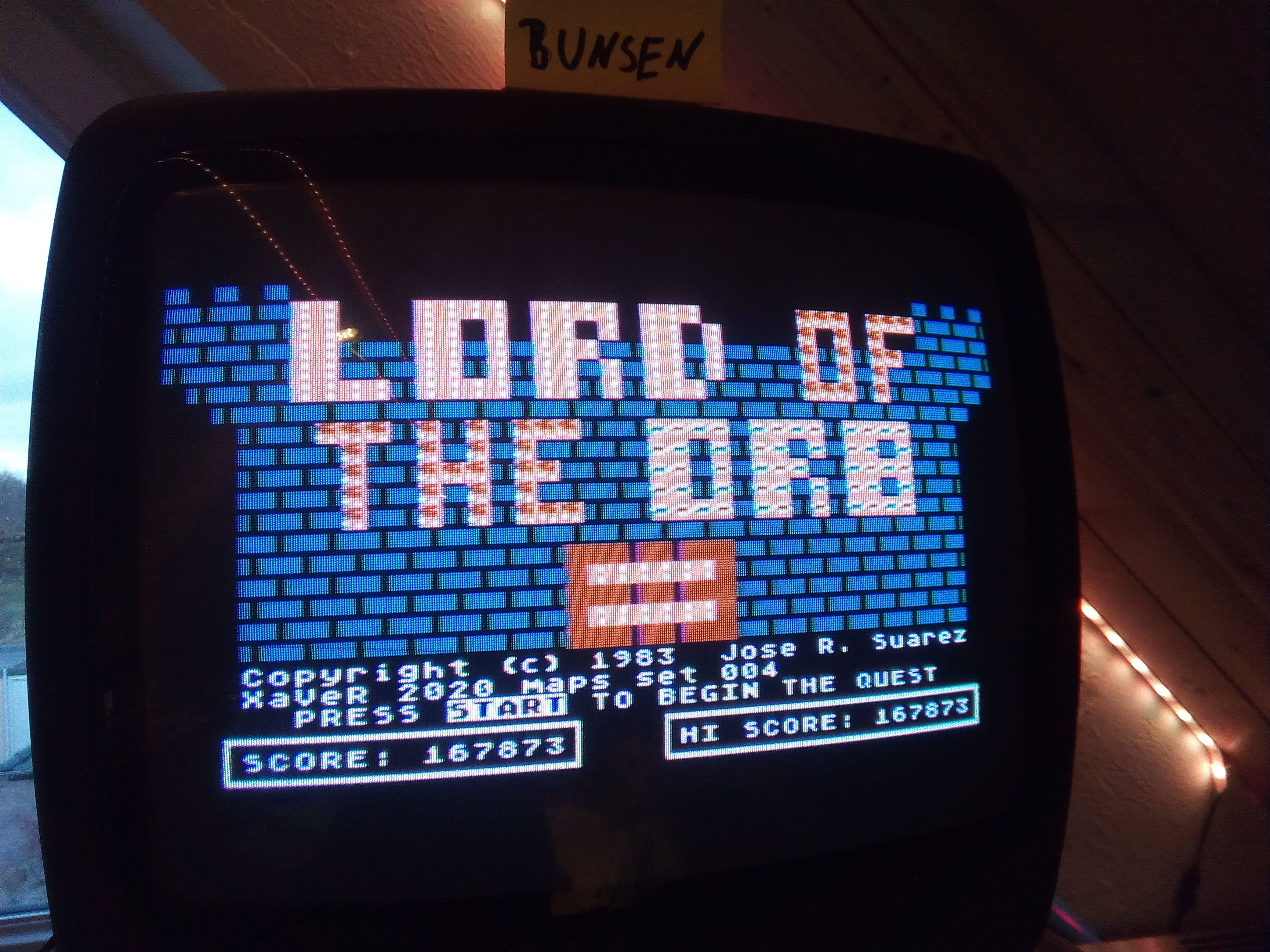 Bunsen: Lord of the Orb [Set 004] (Atari 400/800/XL/XE) 167,873 points on 2020-04-25 15:55:20