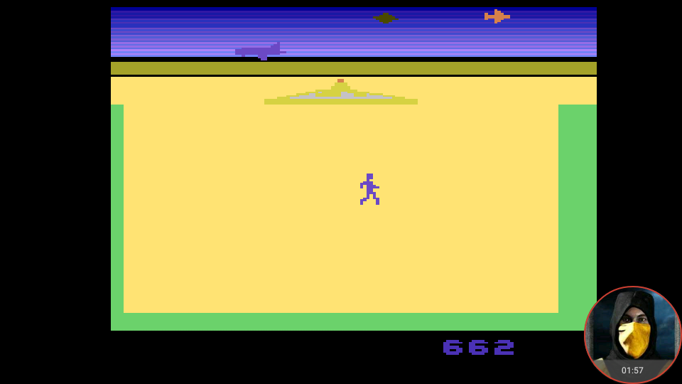 omargeddon: Lost Luggage (Atari 2600 Emulated Expert/A Mode) 662 points on 2018-02-25 16:01:46
