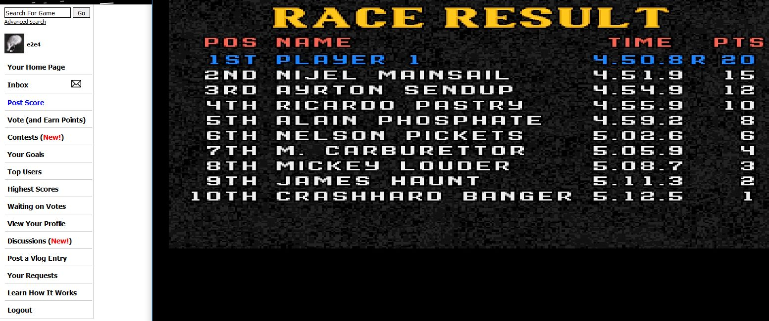 Lotus Esprit Turbo Challenge [Hard]: [Portugal] time of 0:04:50.8