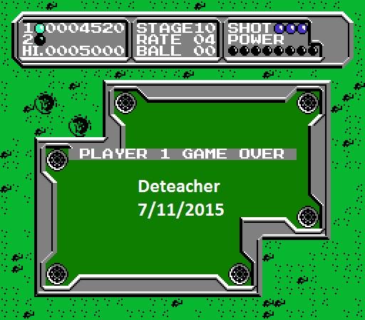 Deteacher: Lunar Pool (NES/Famicom Emulated) 4,520 points on 2015-07-11 11:12:43