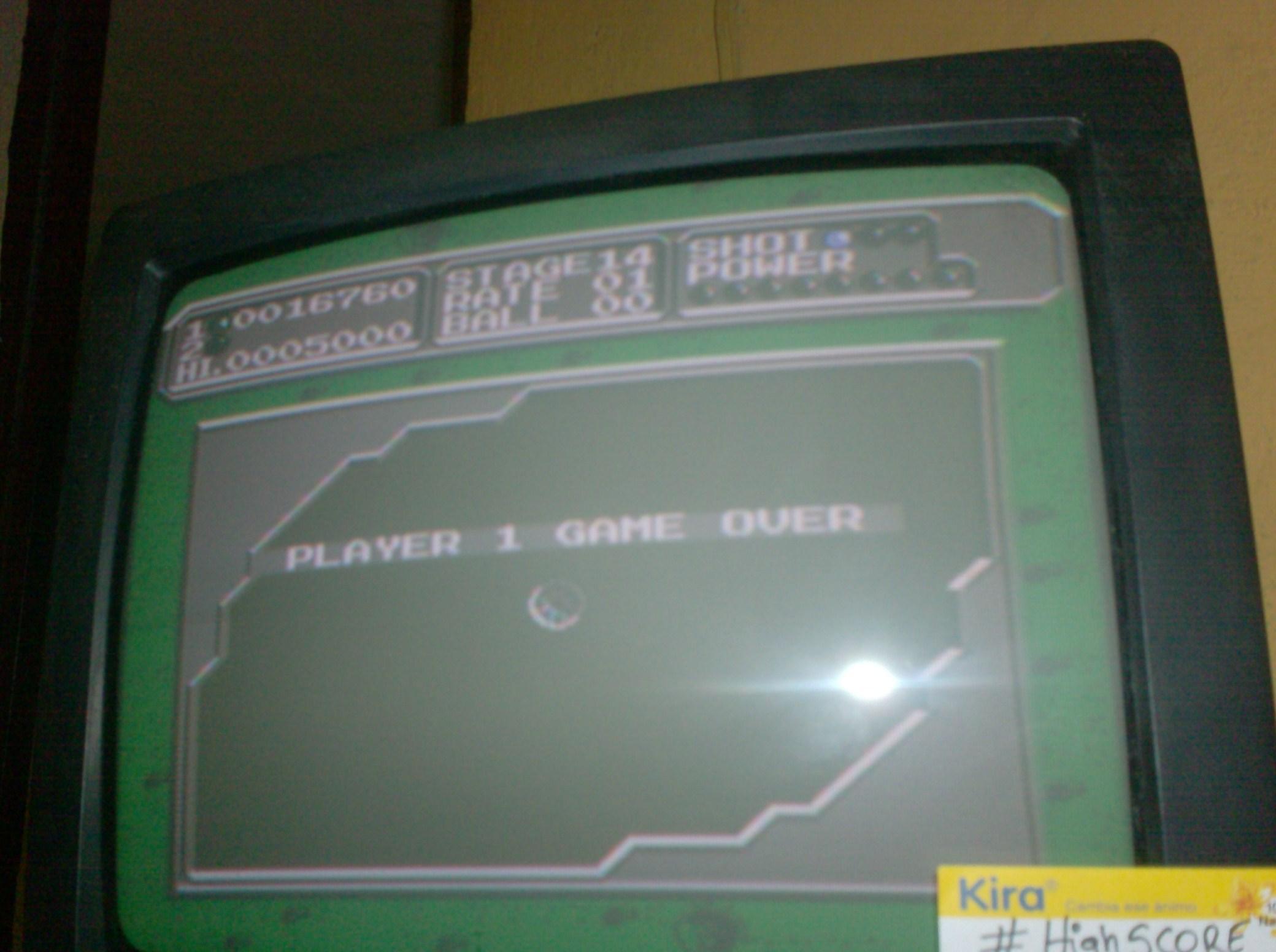 maelogmz: Lunar Pool (NES/Famicom Emulated) 16,760 points on 2016-12-16 10:24:00