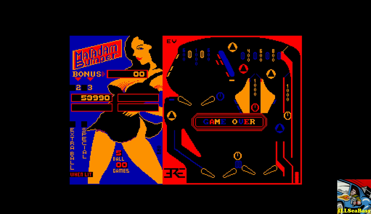 ILLSeaBass: Macadam Bumper [Unmodified Layout] (Amstrad CPC Emulated) 53,990 points on 2017-01-03 22:09:24