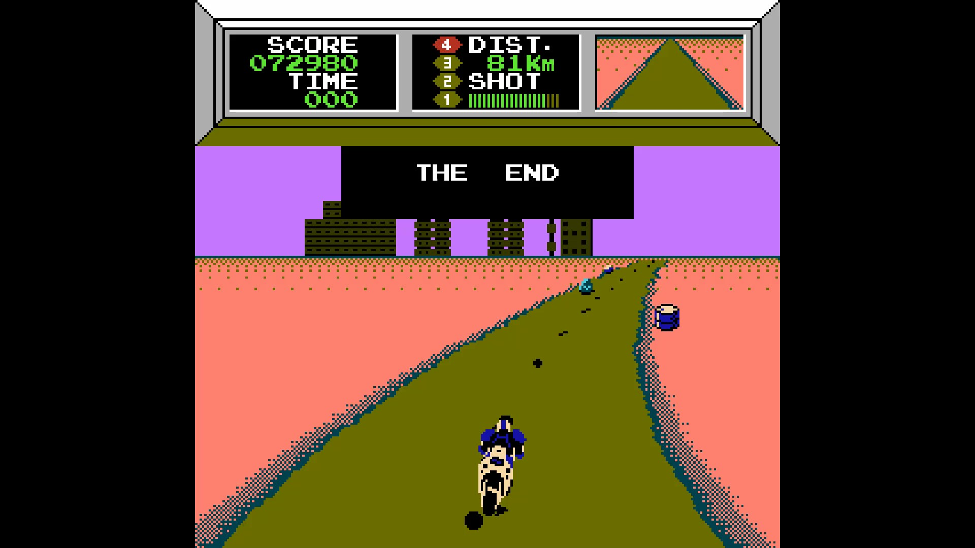 AkinNahtanoj: Mach Rider [Solo Course] (NES/Famicom Emulated) 72,980 points on 2020-08-12 06:47:38